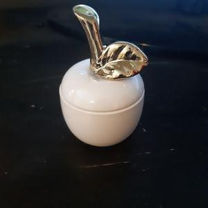 Vintage inspired apple jewelry holder